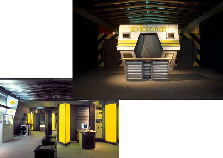 Ausstellungsarchitektur für Rheinschiff MS Jenny