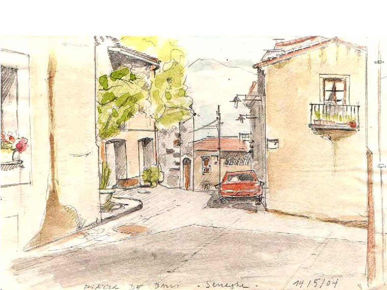 Piazza de Balli – Seneghe – Sardinien